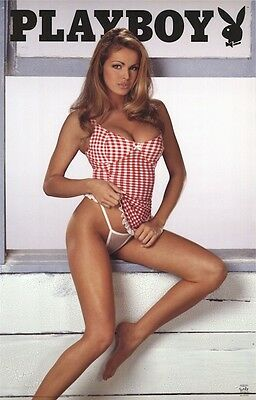 PLAYBOY ~ CHECKER GIRL 22x34 PINUP POSTER Lingerie NEW/ROLLED!