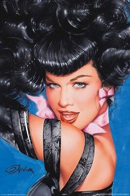 BETTIE PAGE ~ EYES by OLIVIA DE BERARDINIS 24x36 PINUP POSTER NEW/ROLLED!
