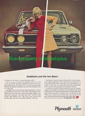 1967 Plymouth GTX - Goldilocks and the two Bears - Cool ad