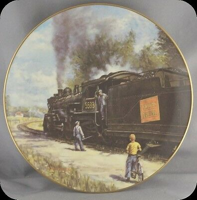 Ted Theodore Xaras When I Grow Up Steam on the CNR Collector Plate