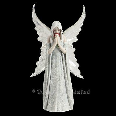 *ONLY LOVE REMAINS* Gothic Angel Art Hand Painted Resin Figurine By Anne Stokes