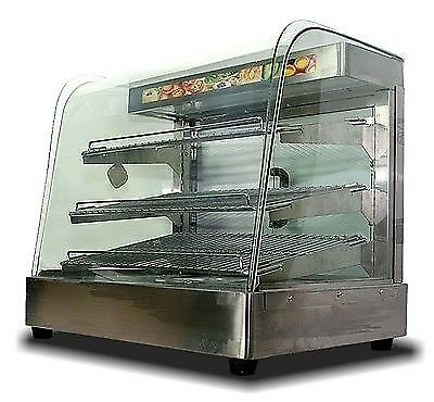 "New  Large Countertop Food Pizza Display Warmer MTN Commercial 25""x23""x17"""