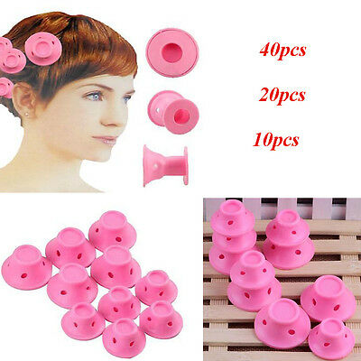 10~40x Silicone Hair Curler Hair Care DIY Roll Hair Style Roller Curling tools