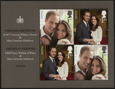 GB 2011 Royal Wedding u/m stamp Miniature Sheet SG MS3180