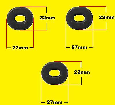Rubber Side Panel Grommets For Honda Kawasaki Suzuki Yamaha Set Of 3
