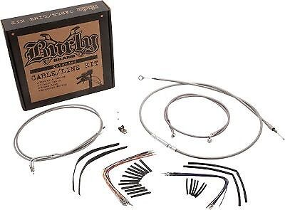 Extended Cable/Brake Line Kit for 14in. Gorilla Handlebars  BURLY  B30-1088