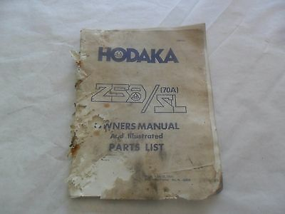 Hodaka 250S/L (70A)  Owner's Manual Parts Book