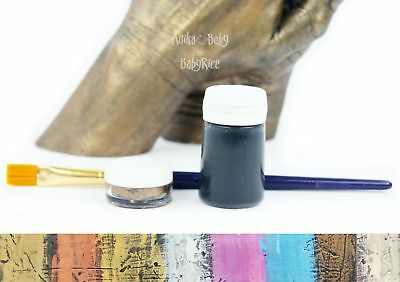Paint Effects Finishing Kit Wax Metallic Lustre Bronze Silver Gold Pewter Brass