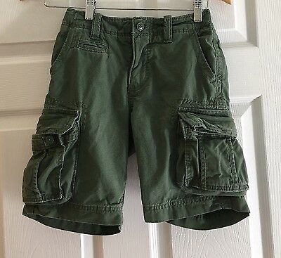 Boys GAP Green Cargo Shorts  Adjustable Waist Size 7