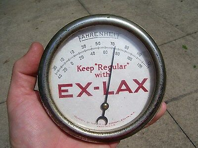 Antique EX-LAX original Thermometer advertising drug store sign vintage 1930s