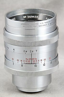 Taylor Hobson Cooke Panchrotal 4 Inch 2.5, C Mount, AS-IS, Please Read