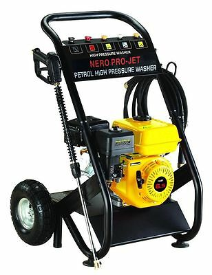Nero Pro Petrol Power Pressure Jet Washer 2200PSI 6.5HP Engine Gun Hose Wheels