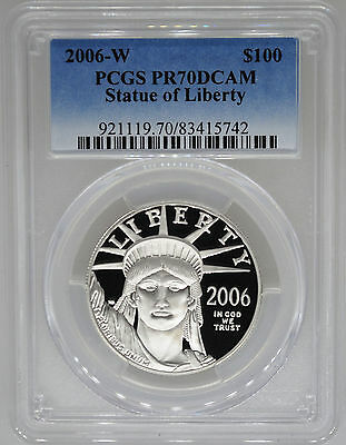 2006-W PCGS PR70 1 oz Proof Platinum Eagle $100