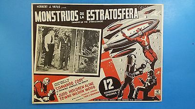 Rare Vintage Original ZOMBIES OF THE STRATOSPHERE(1952) Mexican Lobby Card