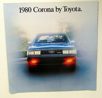Vintage 1980 TOYOTA CORONA SALES BROCHURE CATALOG car auto Large Color photos