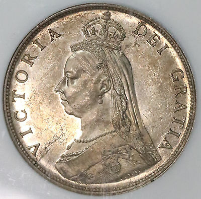 1887 NGC MS 63 Silver Florin Victoria Jubilee GREAT BRITAIN Coin (15110301D)