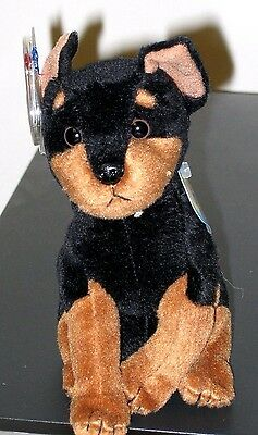 Ty Beanie Baby BB 2.0 ~ TROOPER the Doberman Dog ~ MINT with MINT TAGS ~ RETIRED