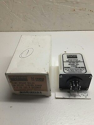 New Dayton 5X829F Time Delay Relay On Delay 1.8-180 Seconds