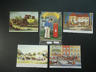 GB Post Office Picture Postcard Series (SWPR 2-5 + Mail Coach Run)