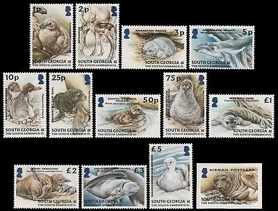 Süd-Georgien 2004 - Mi-Nr. 390-401 & 402 ** - MNH - Wildtiere / Wild animals