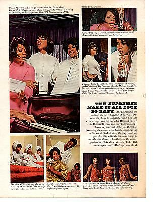 1967 Coca-Cola / Coke  -  The Supremes  ~  Classic 60's Ad