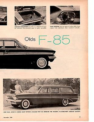1961 Oldsmobile F-85 ~ Original 4-Page New Car Preview Article / Ad