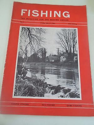 Vintage 1st March 1963 FISHING The Magazine For The Modern Angler+Advertising