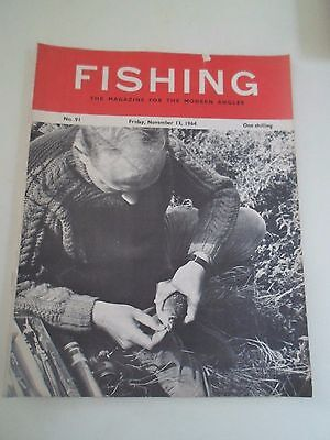 Vintage 13th November 1964  FISHING The Magazine For The Modern Angler+Adverts
