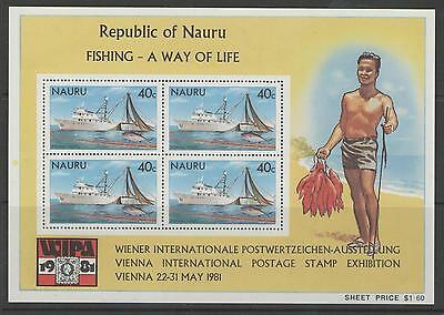 Nauru Sgms242 1981 Fishing  Mnh