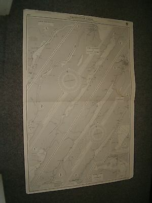 Vintage Admiralty Chart 1791 SCOTLAND - CALEDONIAN CANAL 1920 edn