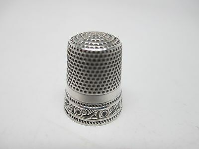 Antique Sterling Silver Thimble KMD Circa 1900,s #2