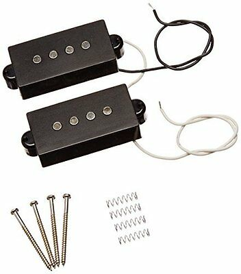 String Noiseless Pickup Set for Precision P Bass Replacement 8.2K Black Finish