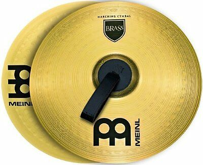 Strong Marching Cymbal Pair with Straps - Perfect for Marching Brass Band 13""