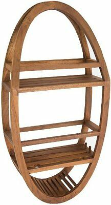 Shower Caddy 100% Solid Aqua Teak Wood Naturally Water Resistant and Durable