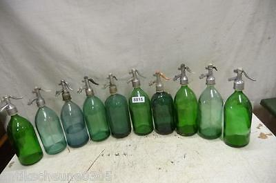 8815. 10 alte Sodaflaschen Siphonflasche Old soda siphon seltzer
