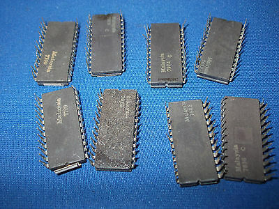QTY-8 EPROM INTEL B1702A-2 24-Pin CERAMIC DIP VINTAGE USED LOT OF 8 PIECES