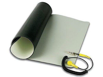"Velleman Anti Static Mat With Ground Cord 11.8"" X 22""/AS4"