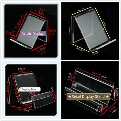 2 pcs 1-Tier Acrylic Retail Display Aid Phone Case Wallet Holder Easel Stand