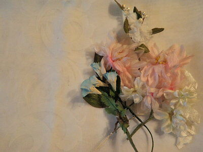 "Vintage Millinery Flower Collection 1 -3"" Pink Blue White for Hat Hair  H1401"