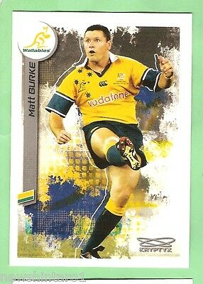 2003  Rugby Union Card  #73 Matt Burke, Australian Wallabies