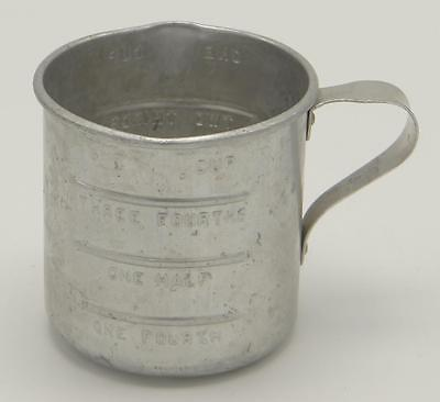 Aluminum Measuring Cup Vintage Curved Handle