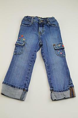 Levi's Girls 3T Levi Strauss Signature Flower & Butterlfy Jeans Expandable