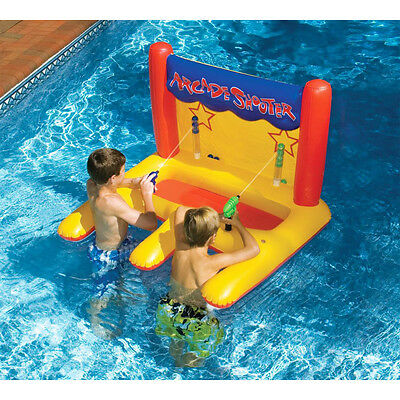 NEW Dual Arcade Shooter Inflatable Pool Toy Kids Water Gun Swimming Game Play