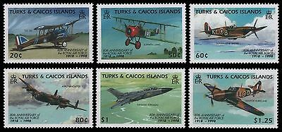 Turks- & Caicos 1998 - Mi-Nr. 1426-1431 ** - MNH - Flugzeuge / Airplanes