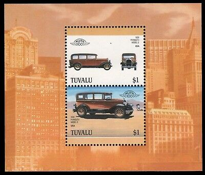 Tuvalu 1987 - Mi-Nr. Block 28 ** - MNH - Autos / Cars