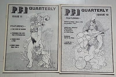 PFI Quarterly Issues 11 & 12 BODY PIERCING MAGAZINE 1981 body modification