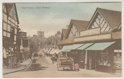 Worcestershire postcard - Droitwich, High Street