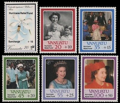 Vanuatu 1987 - Mi-Nr. 744-749 ** - MNH - Hilfsfonds / Hurricane Relief Funds