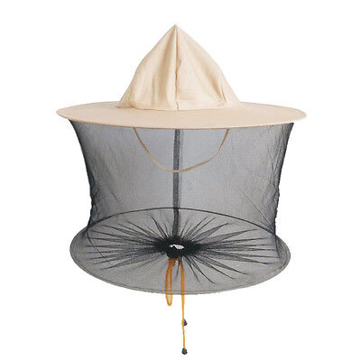 Beekeeper Beekeeping Cowboy Hat Mosquito Bee Insect Net Veil Head Face Protect.