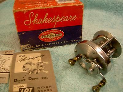VINTAGE OLD FISHING REEL  SHAKESPEARE DIRECT DRIVE 1924 4 tackle box lure bait